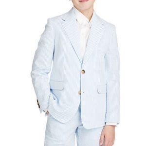 VINEYARD VINES Boys Seersucker Sports Coat